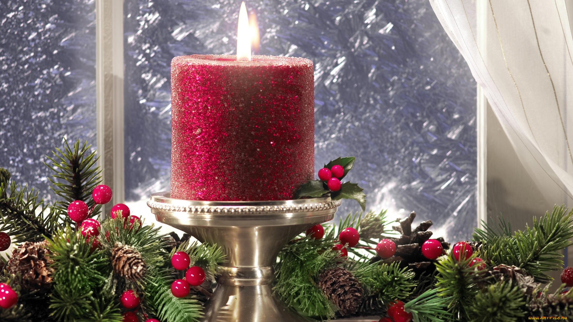 красивые картинки новогодних свечей